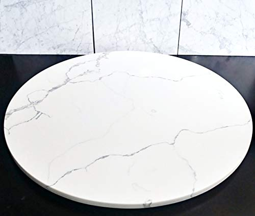 Quartz Marble Lazy Susan Turntable Rotating Tray Dining Table Holiday Centerpiece Large - 36 Inch