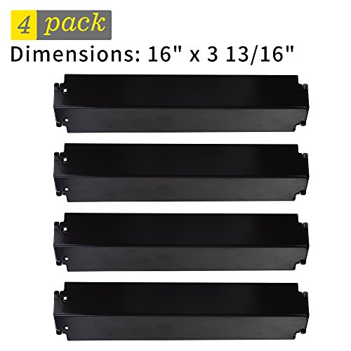 UPC 712492476101, SHINESTAR Grill Heat Tent for Charbroil Grill Replacement Parts 463268008, 463268606, 4-Pack Porcelain Steel Heat Plate Shield for Kenmore Thermos 461262006, 16 inch Flame Tamer Burner Cover(SS-HP009)