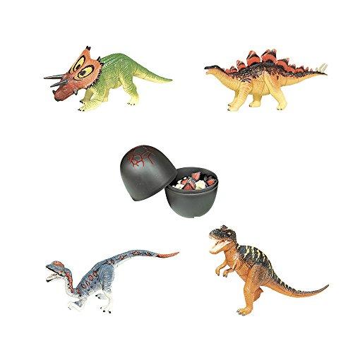 Assorted 4pcs/set of Ukenn 3d Dinosaur Puzzles Block DIY Dino Egg Kids Educational Toy 6766 - 3d Puzzle Block