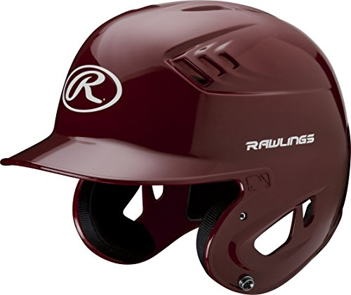 Rawlings Clear Coat Alpha Sized Batting Helmet, Cardinal, (Cardinal Batting Helmet)
