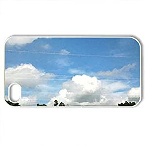 Countryside Scenery - Case Cover for iPhone 4 and 4s (Fields Series, Watercolor style, White) by icecream design