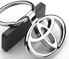 Chrome Metal Car Keychain Keyring Family Present for Man and Woman Gifts Elegant Durable for Toyota Cars