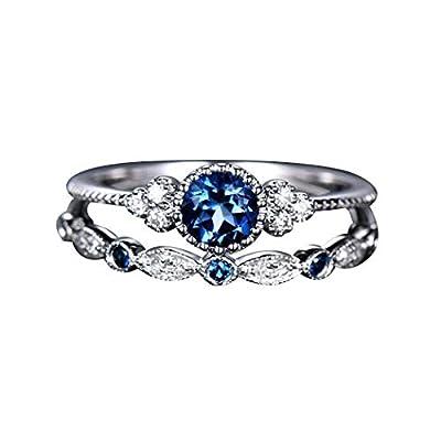 MEZETIHE Women Ladies Fashion Double Layer Rhinestone Ring Luxury Stone Crystal Knuckle Ring Rings