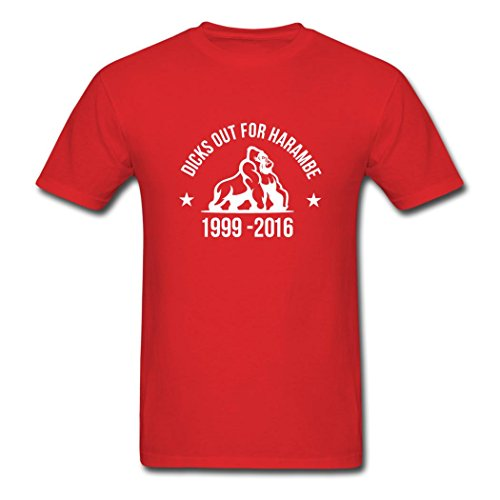 (Newest Dicks Out For Harambe 1999-2016 Men's T-Shirts by SOdasnie Small)