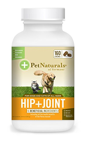 Pet Naturals of Vermont Hip + Joint, Daily Joint Supplement for Cats & Dogs, 160 Bite Sized Chews