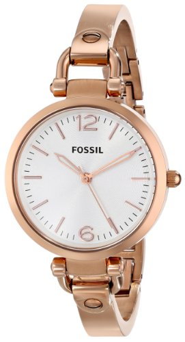 aa888f95aea Amazon.com  Fossil Women s ES3110 Georgia Three Hand Stainless Steel Watch  - Rose Gold-Tone  Fossil  Watches