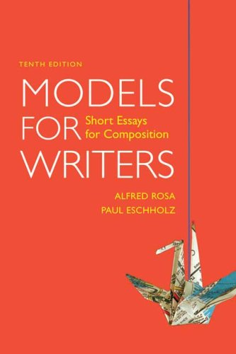 Models for Writers: Short Essays for Composition (Models For Writers compare prices)
