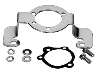 KCInt AIR Cleaner Support Chrome Bracket for Harley Evolution Motors (Chrome Air Cleaner Support Brackets)