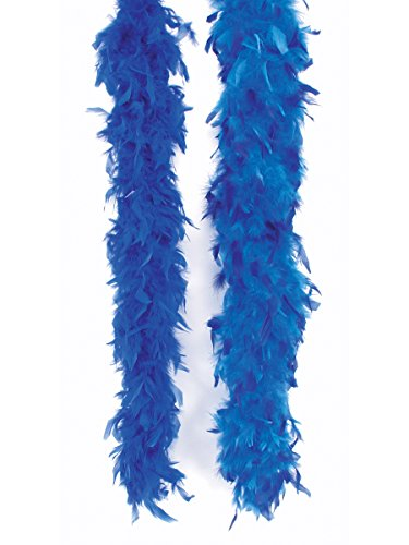(Loftus International Long Fluffy Feather Color Tips Boa Blue Dark Blue One Size 72