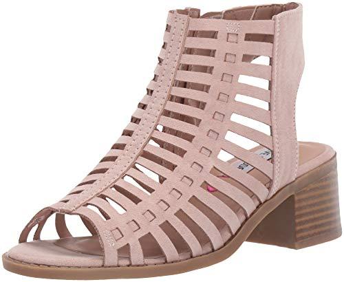 Kids Heel Shoes (Steve Madden Girls' Jamillah Heeled Sandal, Blush, 5 M US Big)