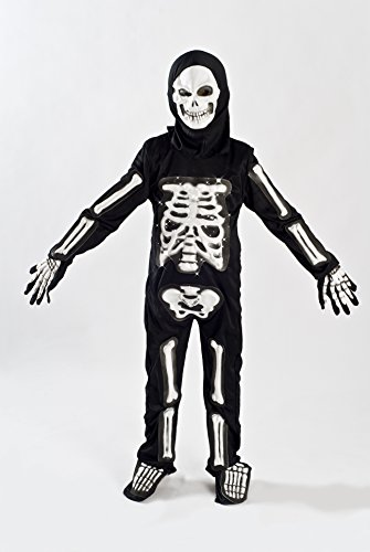 Skeleton Costume for Boys Kids Light up Size M (5-7) L (6-9) (Halloween Costumes Low Prices)
