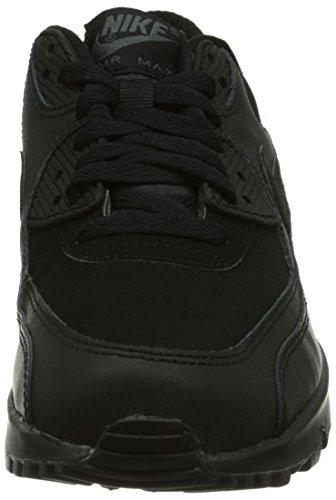 Nike Air Max 90 (GS) Zapatillas de running, Niños Negro / Gris (Black / Dark Grey)