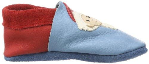 Pololo Sandmännchen - Pantuflas Unisex Niños Azul (Blau (babyblue 726))