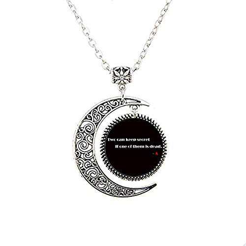 Pretty little liars logo Copper Chain Women Choker Statement 3 The Moon Necklace]()