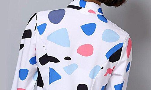 Azul World Para Mujer Putao Down Button Camisas YAqSOU