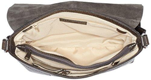 Cuero Mujer Flap Gerry dark Lugano Marrón Weber Hombro Brown Bag M De Bolso Ezz8q6
