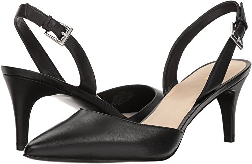 West Black Leather Slingback Pumps (Nine West Women's Epiphany Black 11 M US)