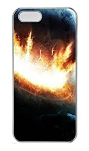 Customizable iPhone 5/5S Cases & Covers Planet Explosion TPU Rubber Silicone Case Compatible with iPhone 5s and iPhone 5 - Transparent