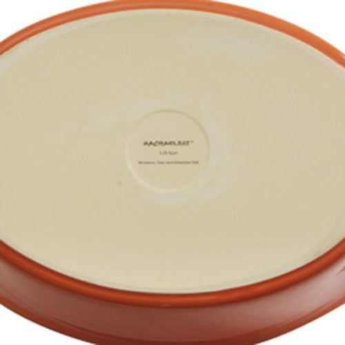 Rachael Ray Stoneware 1.25- and 2.25-Quart Bubble & Brown Oval Baker Set, Orange by Rachael Ray (Image #2)