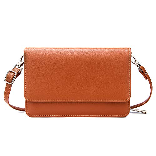 KUKOO Small Crossbody Bag Multifunction Leather Shoulder Cell Phone Purse Wallet Travel