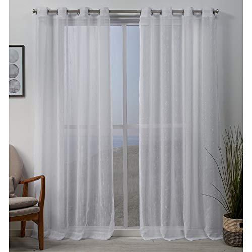 Exclusive Home Curtains Whitaker Panel Pair, 54x84, White (Patio Define Home)