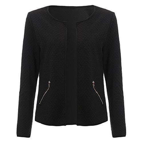 Howme-Women Short Fashion Cardigan Autumn Slimming OL Office Top Coat Black