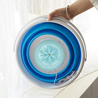 USB Cable 2020 New Folding Fully automatic Laundry Machine Upgraded Portable Washing Machine Low Noise Mini Washing Machine for Camping Turbine Washer Bule Dorms Apartments,Business Trips