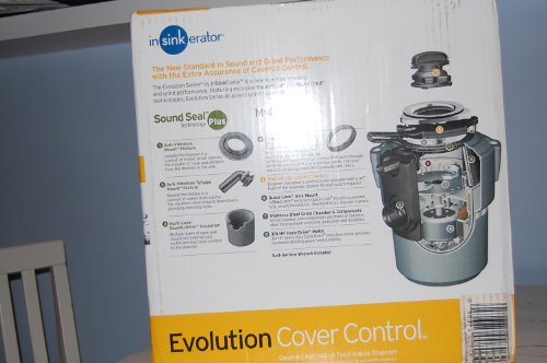 Insinkerator Evolution Cover Control Garbage Disposal Batch Feed Motor HP: 3/4 With Cord
