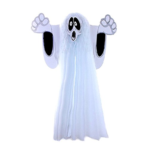 [Hangning Scary Funny Ghost Halloween Cute Party Decorations Kit Outdoor For Kids Novelty Gifts (Small)] (Cheap Halloween Animatronics)