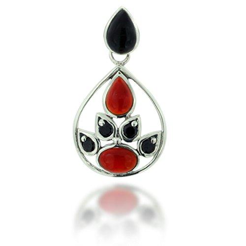 925 Oxidized Sterling Silver Black Onyx, - Oxidized Black Onyx Necklace Shopping Results