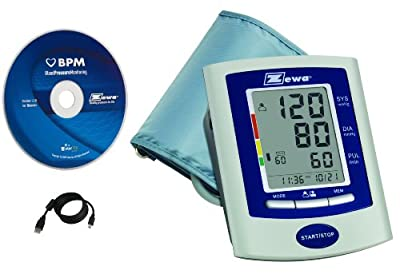 Zewa UAM-880PC Automatic Blood Pressure Monitor With Advanced BP Monitoring Software