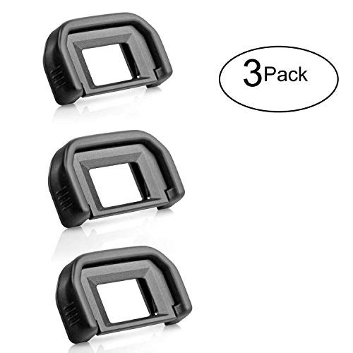 Crazefoto (3 Pack) Photo Eyepiece/Eyecup Compatible with Canon Rebel (T5i T4i T3i T3 T2i T1i XTi XSi XS), Canon EOS (1100D 600D 550D 500D 450D 400D 350D 300D) DSLR Cameras,Canon EF Replacement