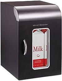 Mind Reader REF01BLK Cube Mini Coffee Station Refrigerator, 0.21 Cu. Ft, Black w/Chrome Handle
