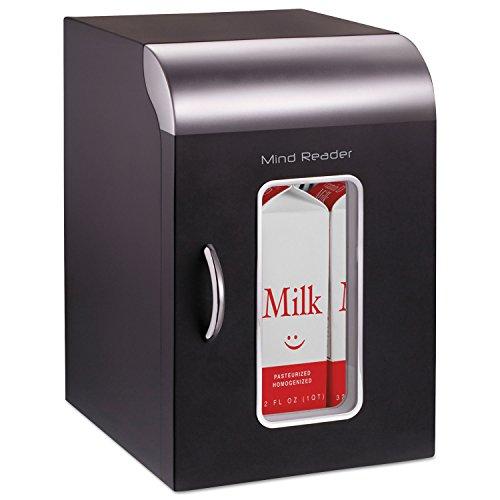 Mind Reader REF01BLK Cube Mini Coffee Station Refrigerator, 0.21 Cu. Ft, Black w/Chrome Handle by EMSREF01BLK