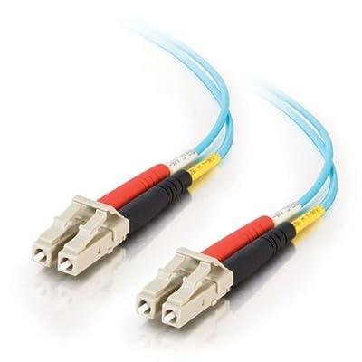 C2G / Cables to Go 33045 LC-LC 10Gb 50/125 OM3 Duplex Multimode PVC Fiber Optic Cable, Aqua