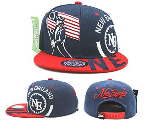 New England New Leader Monster Minuteman Soldier Patriots Colors Blue Red Era Snapback Hat Cap
