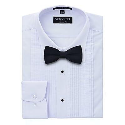 Men's Tuxedo Shirt and Bow Tie Set - Laydown Collar