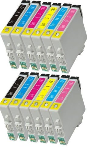 2 Sets Of 6 Compatible Ink Cartridges For Epson Stylus Photo R200