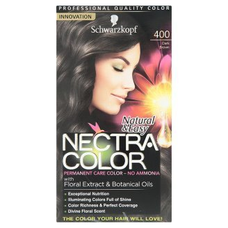 schwarzkopf natural easy nectra color no400 dark brown permanent care color 1 set - Schwarzkopf Nectra Color