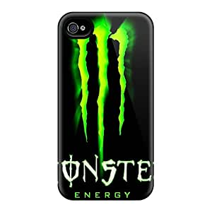 Scratch Resistant Hard Phone Cases For Iphone 4/4s (cwT5056qMMC) Allow Personal Design Trendy Monster Pictures