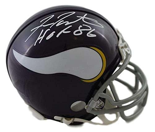 - Fran Tarkenton Signed Mini Helmet - HOF 13448 - JSA Certified - Autographed NFL Mini Helmets