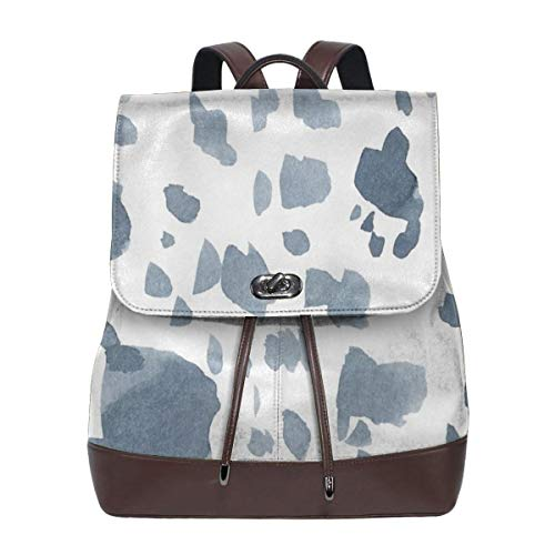 Fashion Leather Backpack Spotted Ink Purse Waterproof Anti Rucksack PU Leather Bags