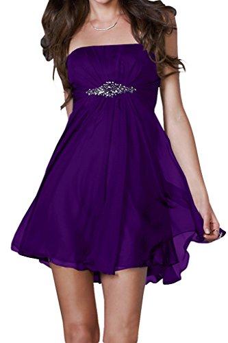 Kurz Promkleid Traegerlos Ballkleid Einfach Damen Ivydressing Violett Abendkleid Festkleid qwPUOSnB