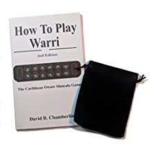 "Mancala Stone Bag Bundle with ""How to Play Warri"" Oware Strategy Book"