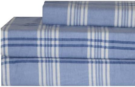 Amazon Com Tommy Hilfiger Windowpane Flannel Sheet Set Twin Old Pattern Home Kitchen