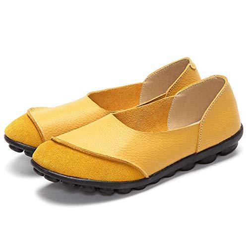Letteraria Autunno Con Borsello Piatto Donna Primavera Stropicciata Fondo In Da Yellow E Nuova Nabuk Morbida Pelle Yxlong gHBq0w0