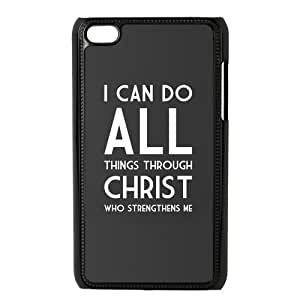 iphone 4/4s Touch 4/4G /4th Generation Back Protective Case - Cute Jesus Christ Cross Bible Quotes Case Perfect as Christmas gift(6)