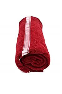 Brightlinen Bath Towel Solid, Maroon