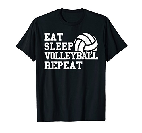 Eat Sleep Volleyball Repeat Funny Volleyball Player T Shirt