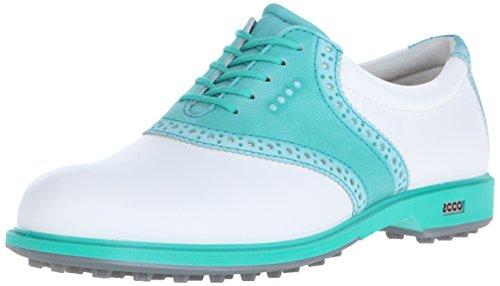 ECCO Women's Classic Hybrid II Golf Shoe, White/Capri Breeze, 41 EU/10-10.5 M US by ECCO